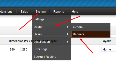 Add slider images in Opencart