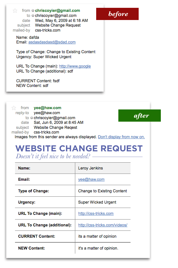 Send html email in phpr